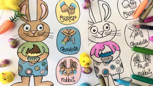 Signing Bunny